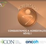 O CON é recertificado pela Organização Nacional de Acreditação